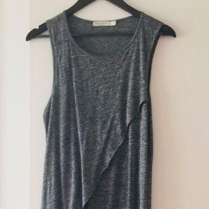 Alternative brand asymmetric midi-dress, Grey - S